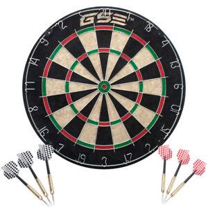 18x1-5-Inch-Professional-Regulation-Size-Bristle-Dart-Board-w-6-Steel-Tip-Darts
