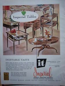 Image Is Loading 1956 Vintage Imperial Furniture Company Grand Rapids Mi