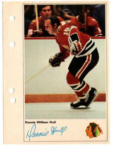 1971-72 Toronto Sun Dennis Hull Action Photo Chicago Black Hawks