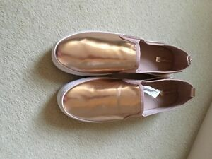 Geox Women's Shoes Sneakers Slip On Leather & Canvas Rosegold Line Modesty | eBay