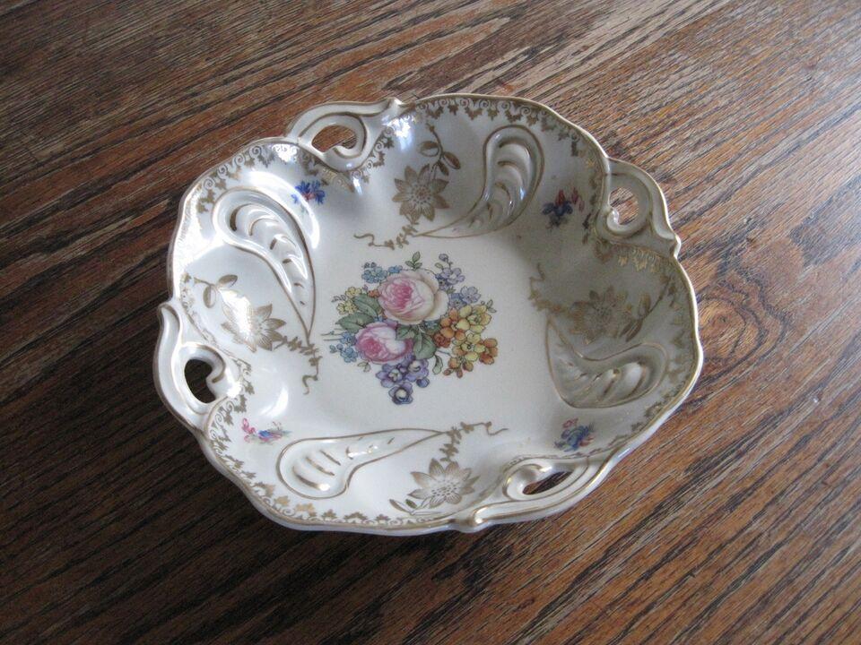 Porcelæn, lille fad/skål, Oscar Schlegelmilch