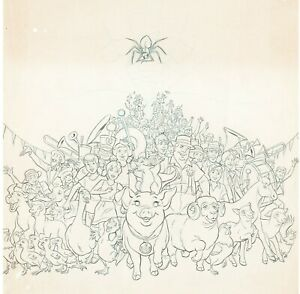 Charlotte's Web (1973) Original Movie Poster Production art * drawing not cel *
