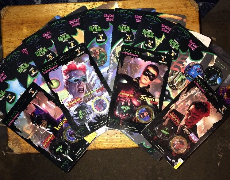 Pogs Batman Forever Factory Sealed Sky Caps Complete Collection