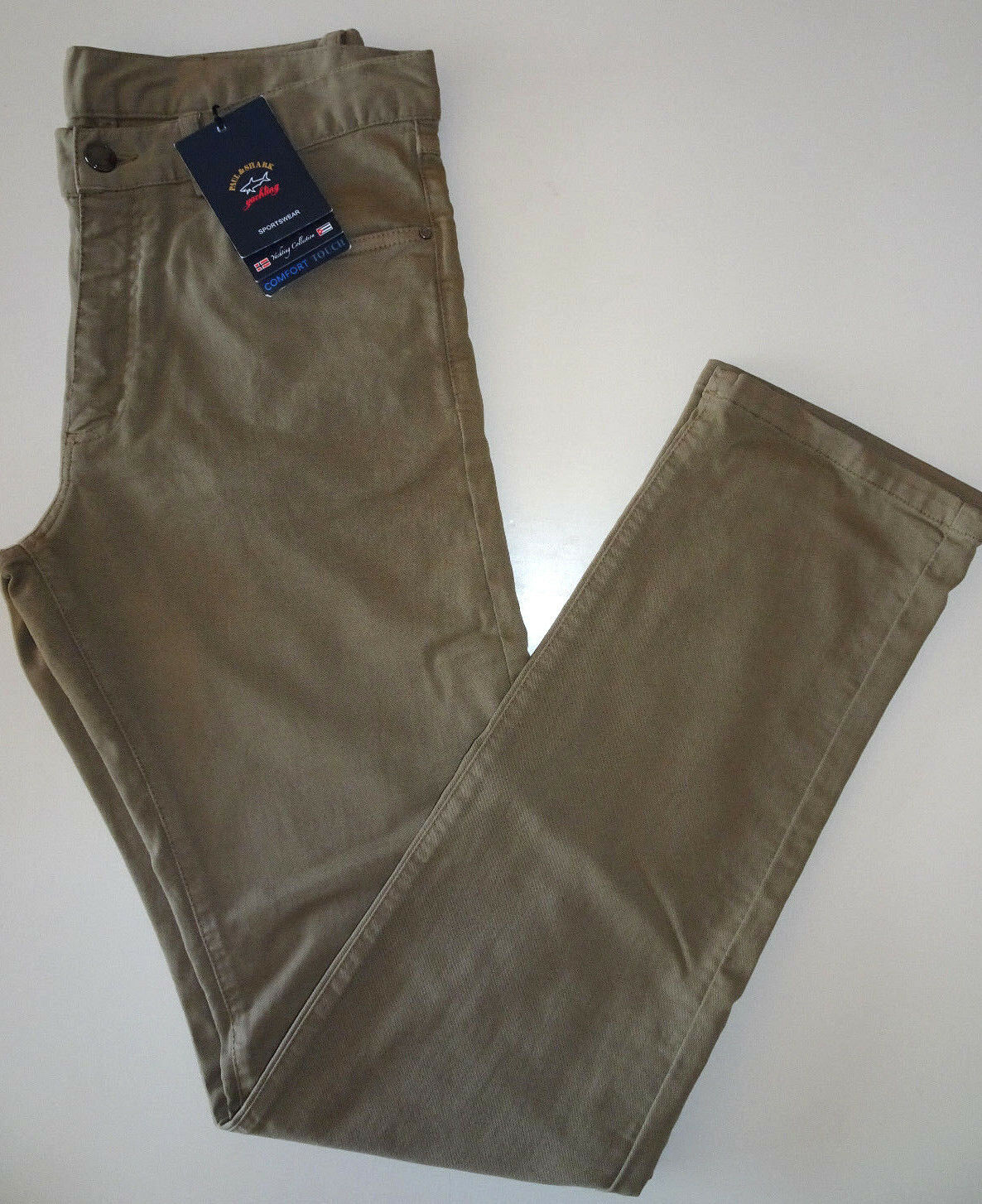 PAUL & SHARK Yachting Luxus Comfort Touch Hose Khaki Gr.S  AKTION  NEU