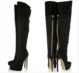 Sexy-Ladies-Over-Knee-High-Thigh-Boots-Pointed-Toe-Stiletto-Heel-Party-Back-Zip