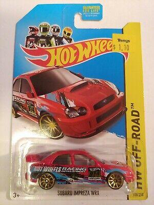 Subaru Impreza WRX #108 WA18 RED 2014 Hot Wheels