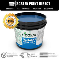 Ecotex Tex Blue Hv High Viscosity Textile Screen Printing Emulsion All Sizes