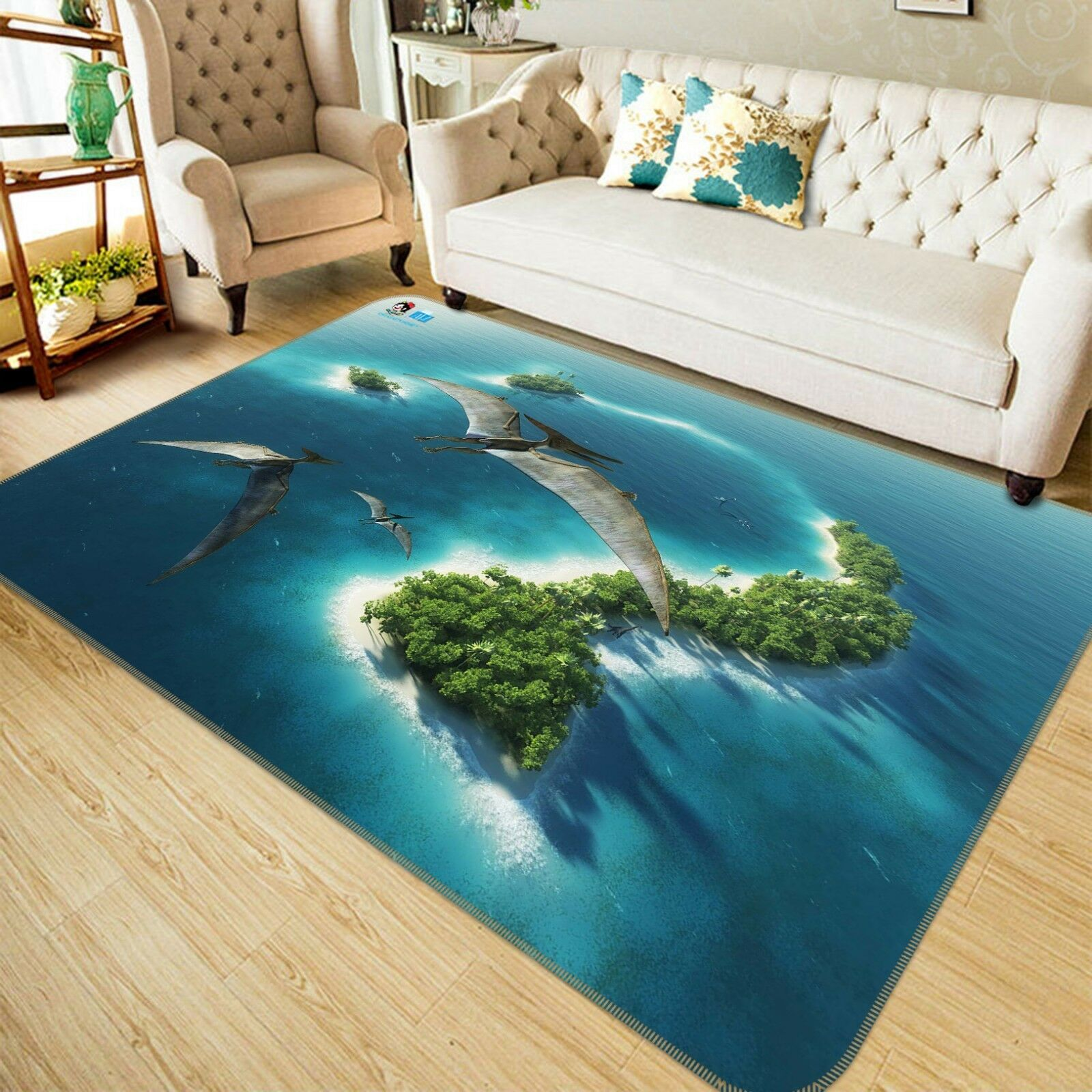 3D Dinosaur Islands 88 Non Slip Rug Mat Room Mat Quality Elegant Photo Carpet US