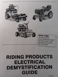 Details about Toro Garden Tractor Electrical Demystification Wiring on