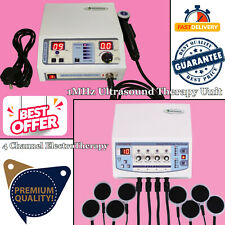 Home Use 4channel Electrotherapy Ultrasound 1mhz Pain Relief Combo Therapy Unit