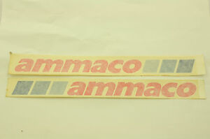 Details about PAIR (2) AMMACO OLD SCHOOL BMX DOWN TUBE TRANSFER STICKERS  GENUINE 80's MADE NOS