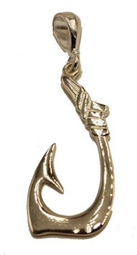 Hawaiian Fish Hook Pendant .925 Sterling Silver  Fish Hook Charm Sterling Silver