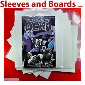 The Walking Dead Comic Bags Only Size2 for Issues and Graphic Novels x 25 .