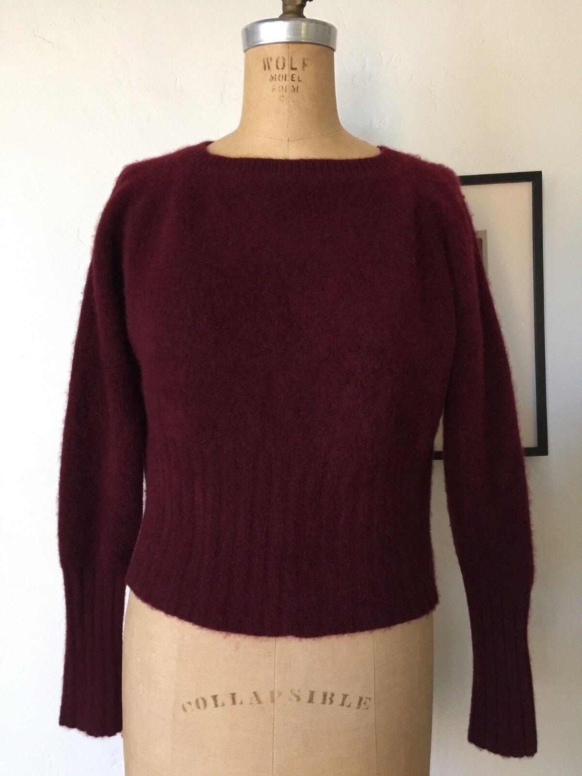The Elder Statesman Maroon OverGrößed Cashmere Sweater Sz S M
