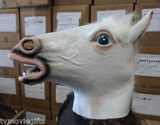 White Horse Head Full Overhead Latex Adult Animal Mask One Size Fits 70-1084 New