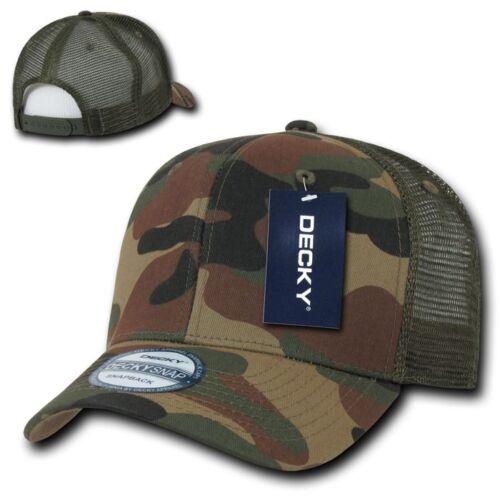 1 Dozen Decky Curved Bill Baseball Trucker Constructed Caps Hats Wholesale