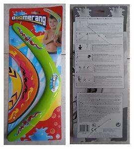 Boomerang-verde-con-istruzioni-cm-38-vacanza-mare-spiaggia-monti-gioco-vintage