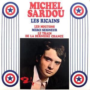 Michel-Sardou-CD-Single-Les-Ricains-Cardboard-Sleeve-France-EX-EX