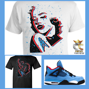 7f899b832a7f Details about EXCLUSIVE TEE T SHIRT 2 to match AIR JORDAN 4 TRAVIS SCOTT  CACTUS JACK OILERS