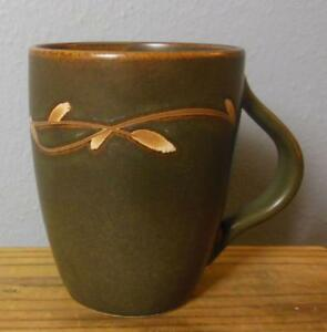Vintage Pottery Barn Mug Willow Brown 4 Quot Ebay