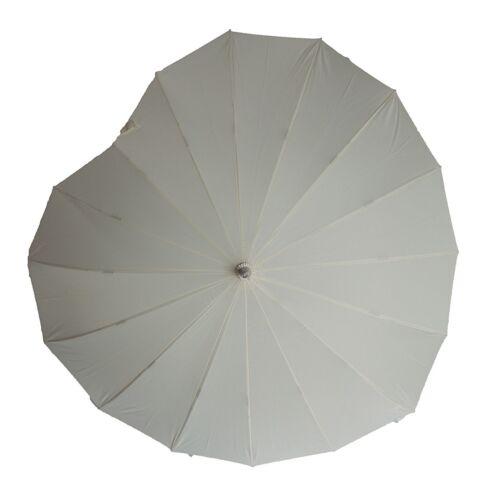 Soake Boutique Cuore Forma Lunga Stick Umbrella Crema