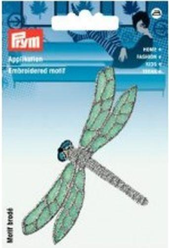 Prym Applikation  Libelle grün//silber Art-Nr 926608