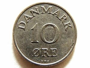 1954-Denmark-Ten-10-Ore-Coin