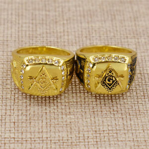 Free-Mason-Signet-Rings-Men-Jewelry-Stainless-Steel-Gold-Masonic-Ring-Decoration