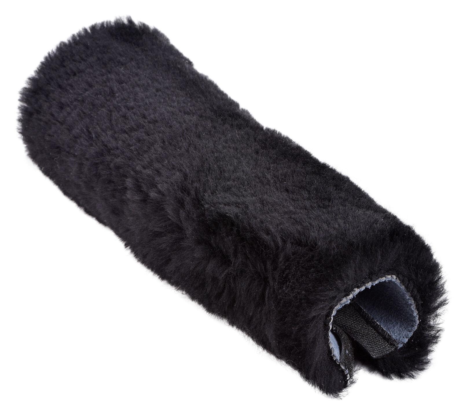High Quality Genuine Sheepskin Seat Belt Cover Ripper Fastening Black Grey Pink