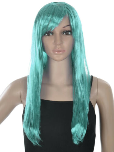 Women Long Straight Full Wigs with bangs Halloween Party Costume Hair Wigs