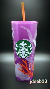 Starbucks 2021 Summer 24 Oz.Venti Purple/Pink Coral Reef Stainless Steel Tumbler