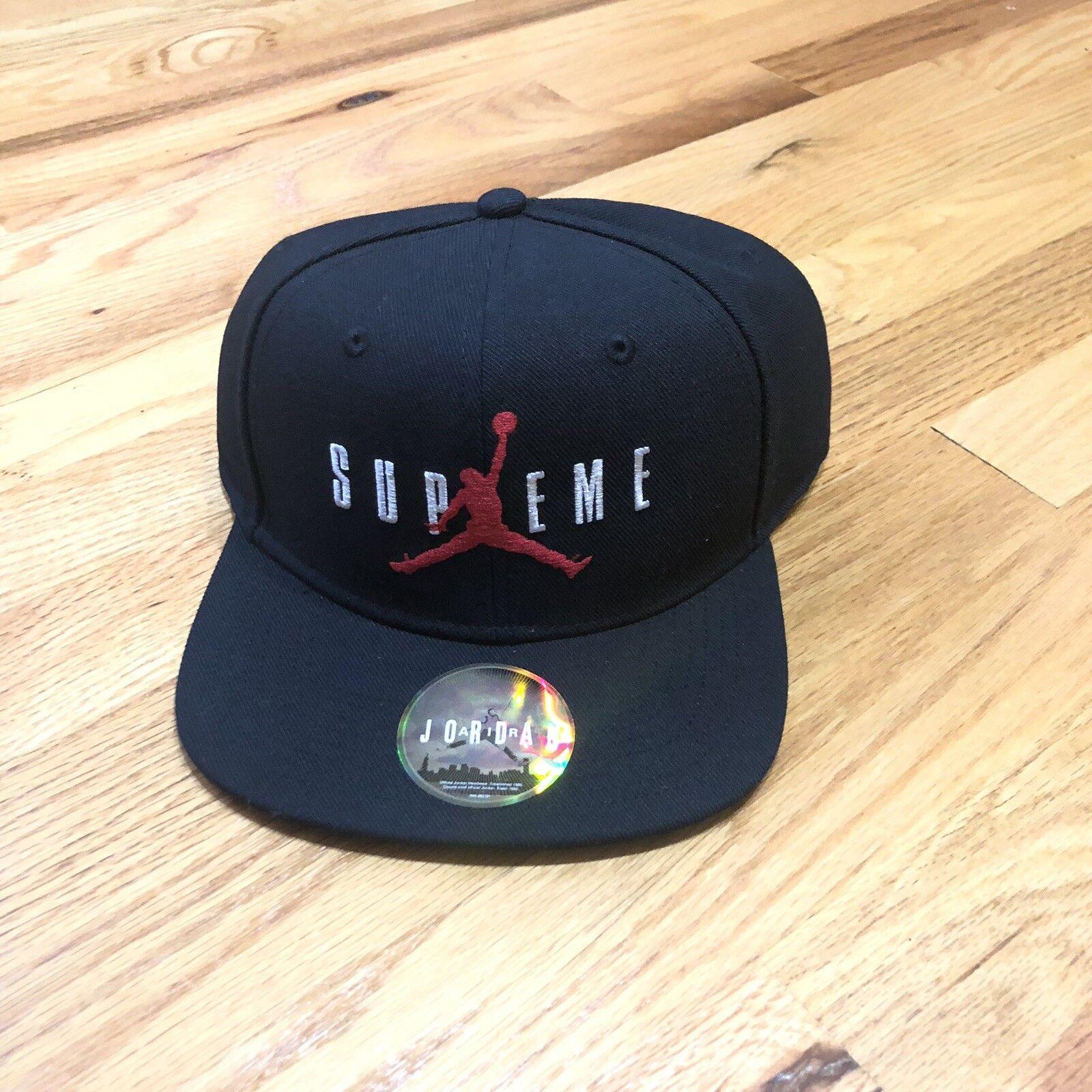 7fb4483337558 Supreme Nike Airmax 98 Running Hat Cap Black Dunk SB Jordan Yeezy for sale  online