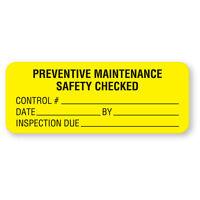 Preventive Maintenance Labels 2.25w X 0.875h 420 Roll on sale