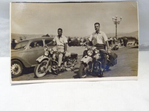 Cartolina motociclisti Harley Davidson - Piazzale Michelangelo Firenze