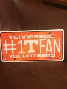 Details about Tennessee Volunteers #1 Fan Metal Tag License Plate MTF180101  University of Tn
