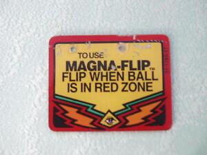 Pinball Twilight Zone original playfield Plastic 2 Bally Flipper