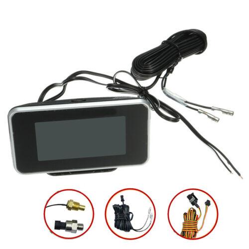 Multifunction LCD Car Water Temp Voltmeter Oil Pressure Oil Fuel Gauge w//Sensor