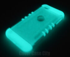 Clear Glow In The Dark Armor Resistant Case For iPod Touch 5th 6th Gen Cover