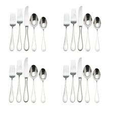 Service for Four 20 Piece Set Reed /& Barton 1800 18//10 Stainless Steel
