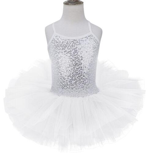 Girls Kids Ballet Dance Dress Leotards Layered Tutu Skirt Ballerina Dance wear