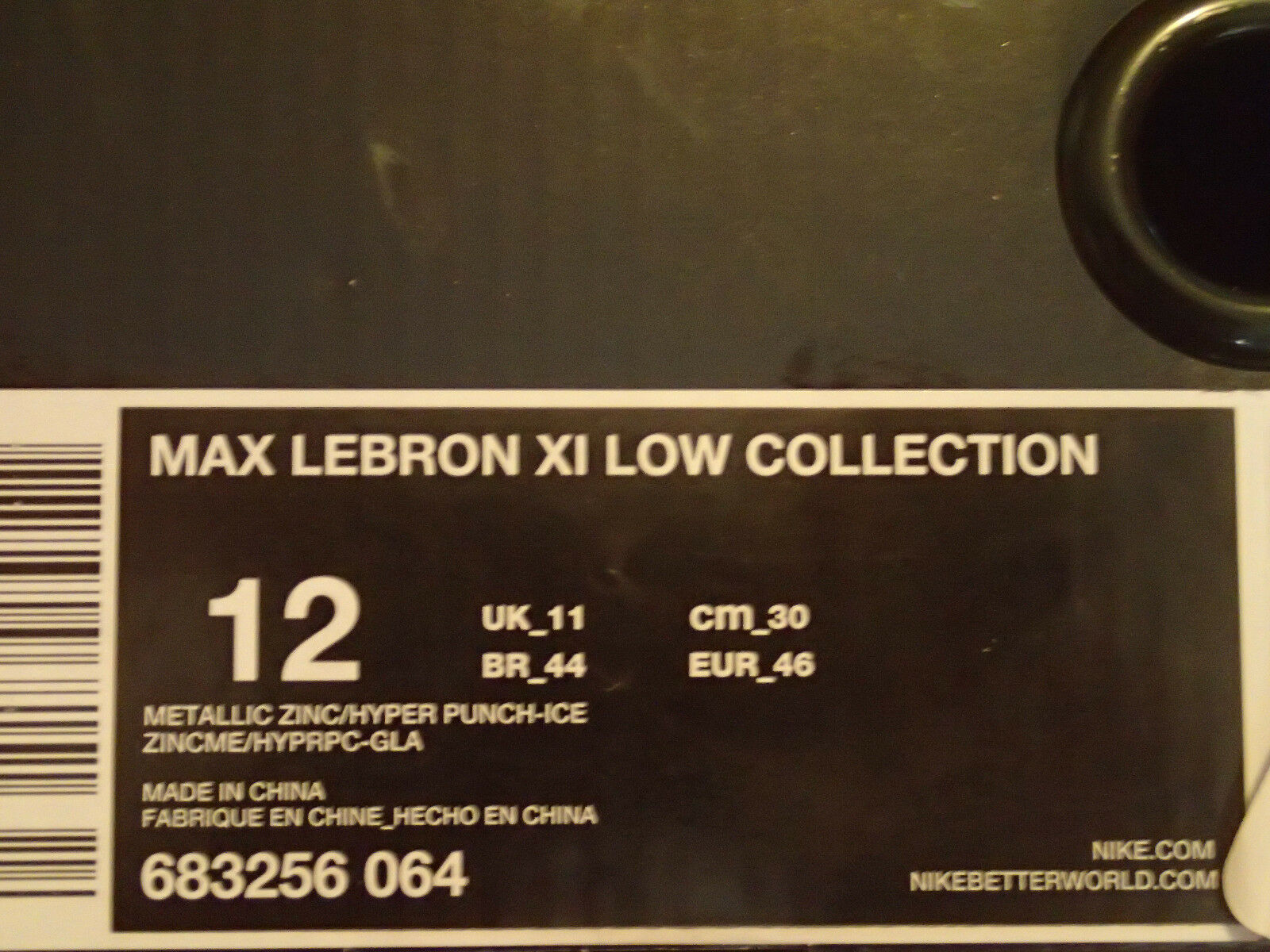 Nike 11 Air Max Lebron XI 11 Nike Low SE Maison Du Hyper Punch SZ 12 ( 683256-064 ) 992b55
