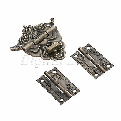 Furniture Suitcase Jewelry Box Lock Latch Clasp 51*43mm with 2pcs Amboss Hinges