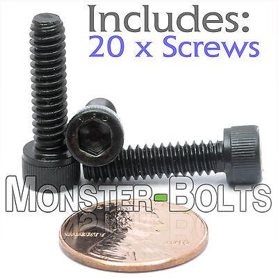 "Alloy Steel w Black Oxide SAE #8-36 x 1//4/"" Socket Head Cap Screws Qty 20"