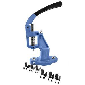 Pack-hand-press-machine-6-tools-dies-for-single-double-cap-rivets-set-kit-S023