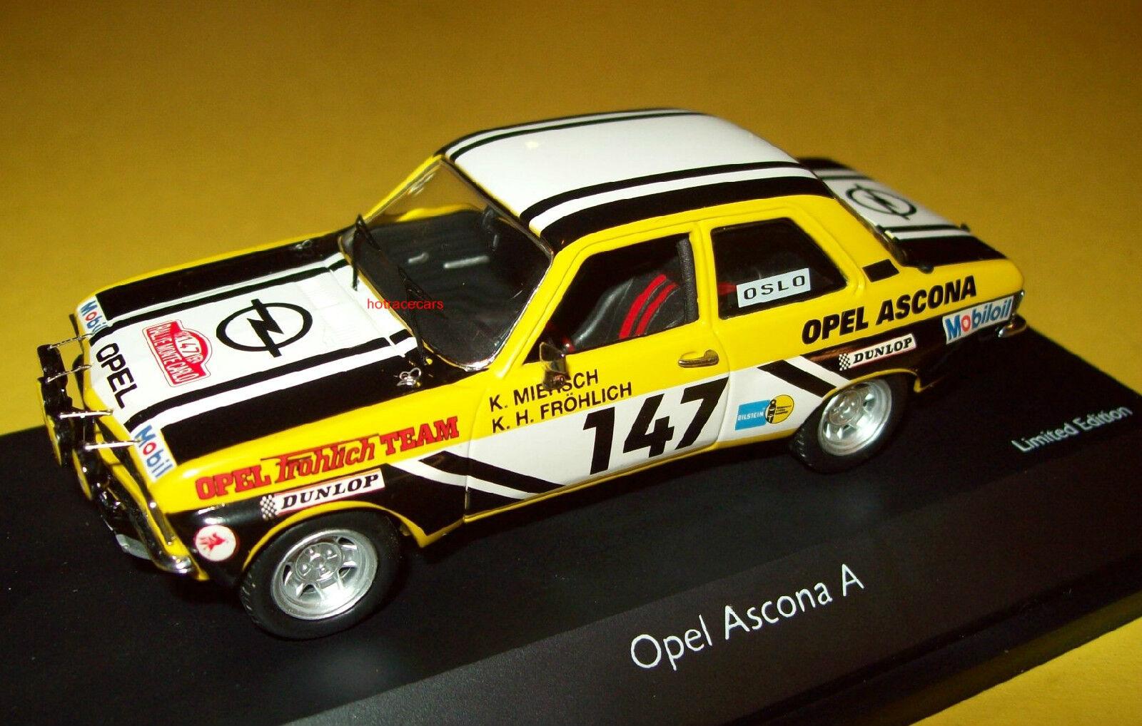 Opel Ascona A Rallye Rally Rally Rally Schuco 1 43 Frohlich Miersch New Base Cover 2b6fcc