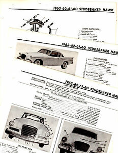 1960-1961-1962-1963-STUDEBAKER-HAWK-MOTOR-039-S-ORIGINAL-CRASH-BOOK-ILLUSTRATIONS-M4