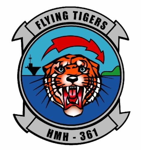 Marine Flying Tigers HMH-361 Sticker Military Armed Forces M616