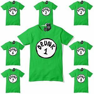 af3d0e0b Drunk Thing 1 2 3 Funny Dr Suess St Patricks Day T Shirt Fancy Dress ...