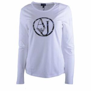 ARMANI-JEANS-7V5T04-5J00Z-0193-Womens-T-Shirt-Crew-Neck-Long-Sleeve-Casual-Tee