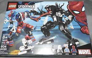76115 FACTORY SEALED !! VENOM 604 PCS LEGO MARVEL SPIDER-MAN SPIDER MECH VS